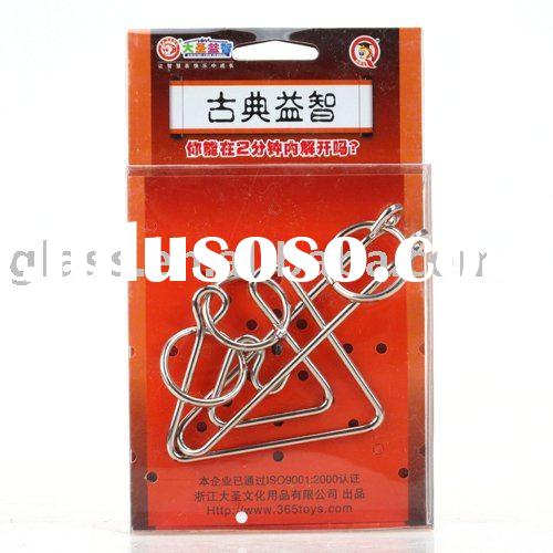 Brain Teaser Metal Wire Iron interlocking IQ Metal Puzzle  Test Toy