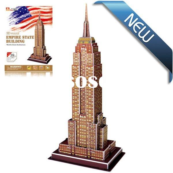 Educational Toys EPS Paper Game Empire state building 3D puzzle paper