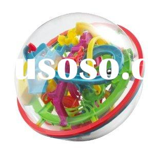 Magical Intellect Ball 3D Labyrinth IQ Puzzle Maze Ball Game Toy Twist 360 Degrees Sphere