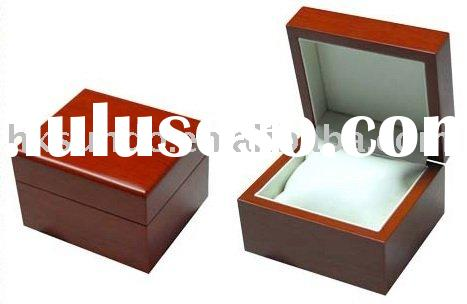 fashion high gloss lacquered single wooden watch box