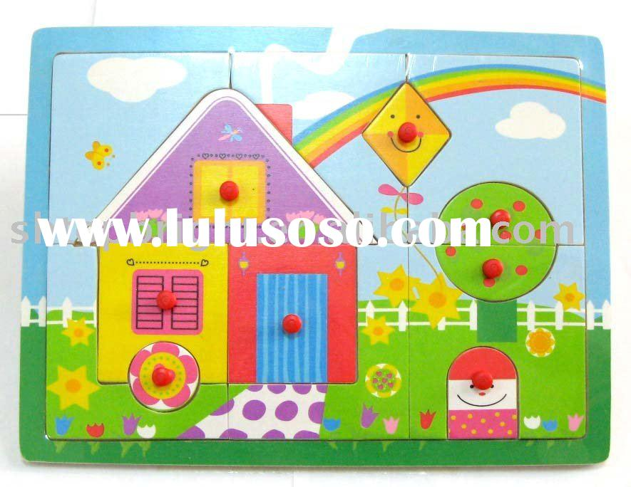 wooden educational jigsaw puzzle/toy for kids