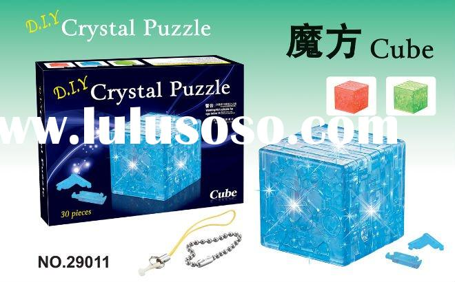 3D Crystal Puzzle Cube chain