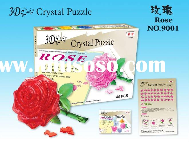 Rose 3D crystal puzzle