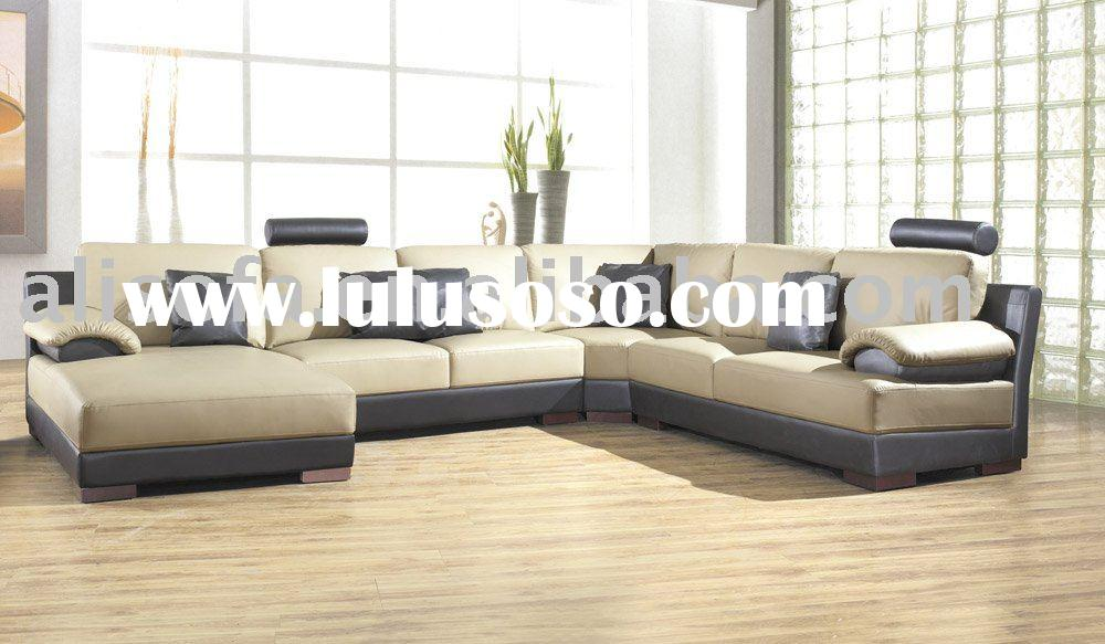 2010 Hot Sale Modern Leather Corner Sofa Set FX227