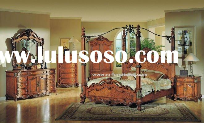 Antique Solid Wood King/Queen Bedroom Set