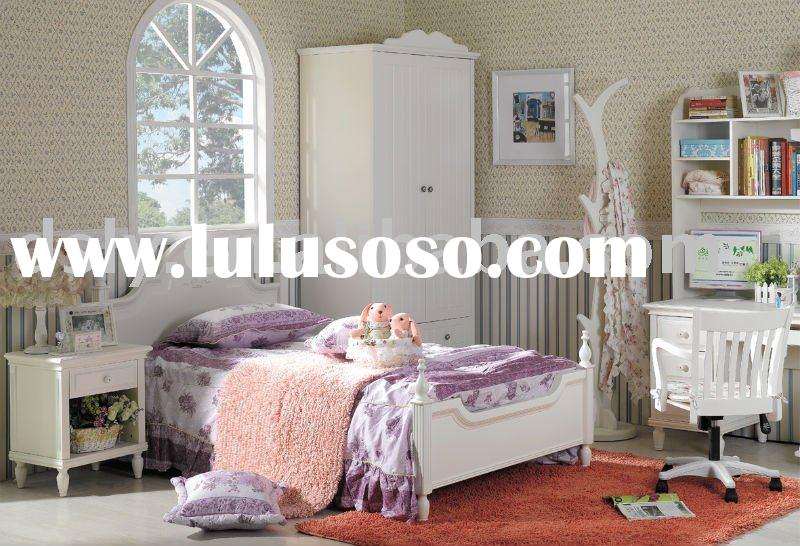 BL-786# full white Korea style furniture/full white bedroom set/bedroom furniture