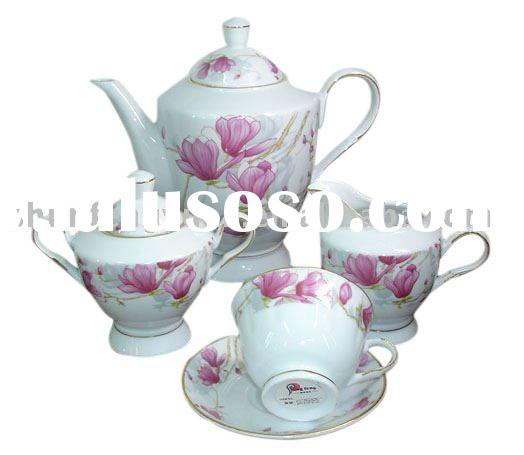Chinese porcelain coffee tea sugar set