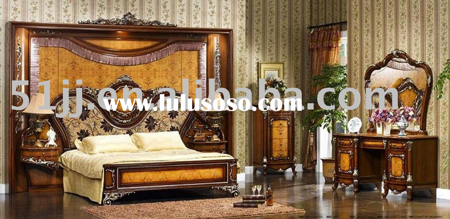 European Style Bedroom set Furniture TY-W-9007 bed dresser wardrobe closet night stand