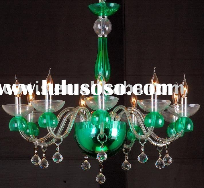 Green glass pendant lamp +Free shipping
