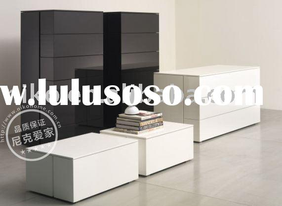Modern Bedroom Furniture Glossy Nightstand+Dresser+Cabinet
