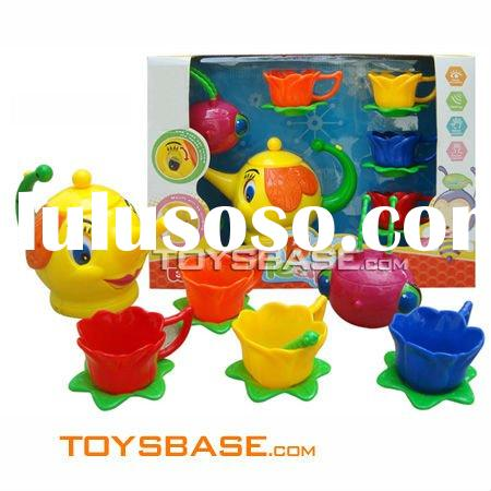 Plastic toy tea set