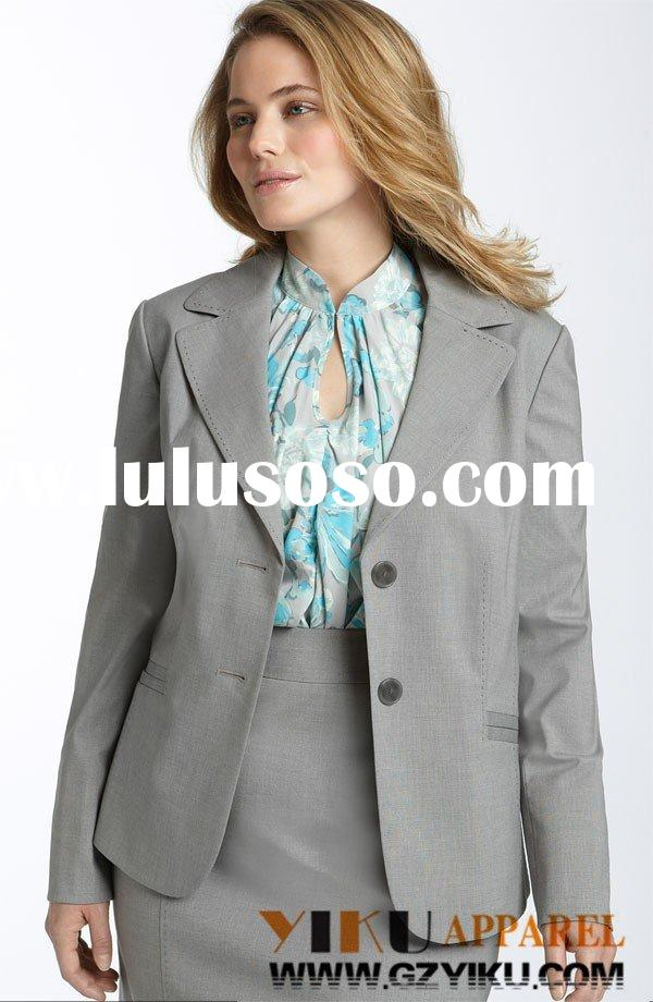 Plus size office lady suit