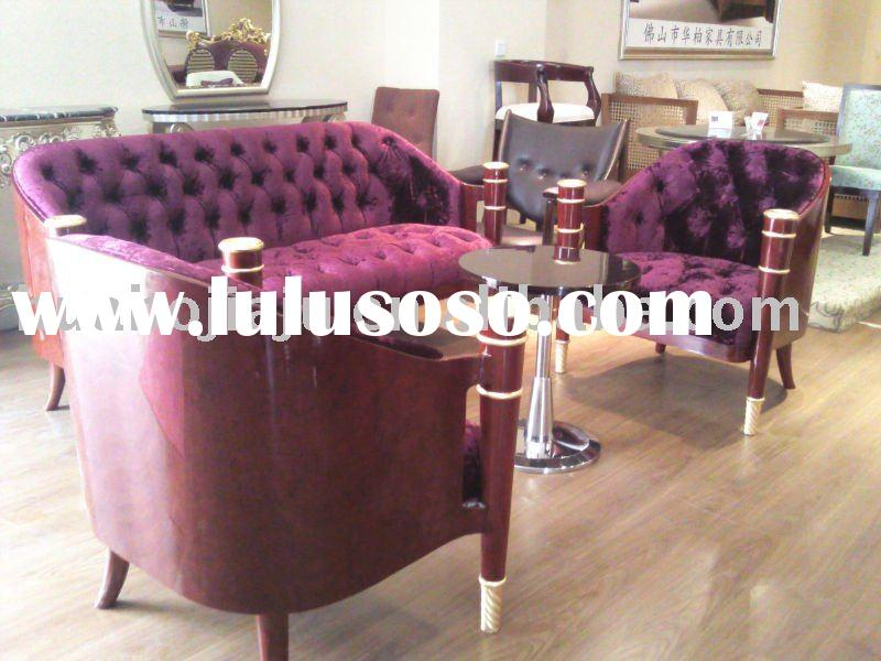 Sofa set(Malaysia rubber wood metal base ebony veneer HB-007506)