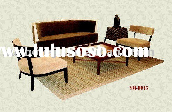 Sofa set(Malaysia rubber wood upholstery fabric high-density sponge HB-11015)