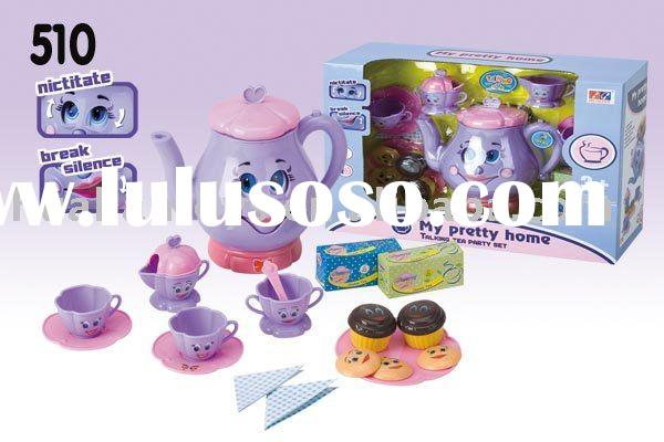 Tea play set with music / effect sound / fun phrases kids tea set