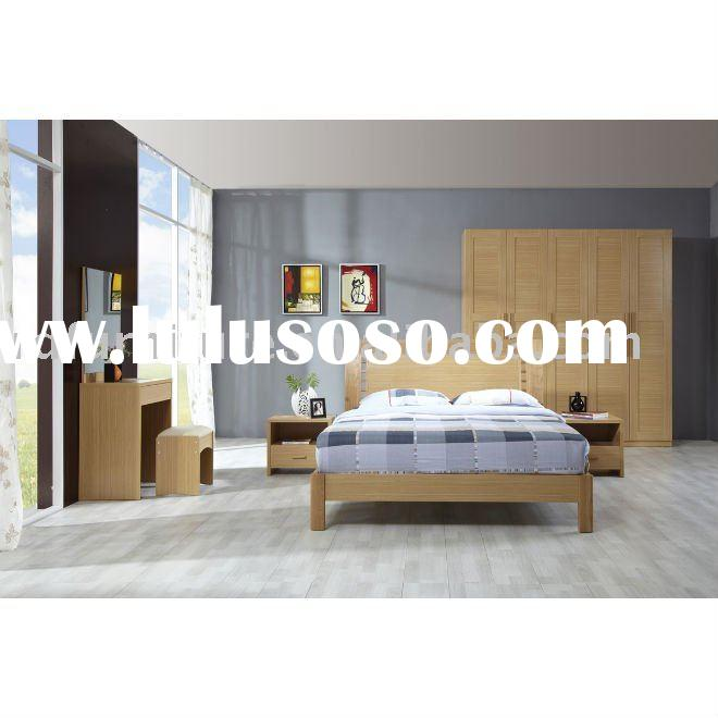 #BS003 modern bedroom furniture set in white oak