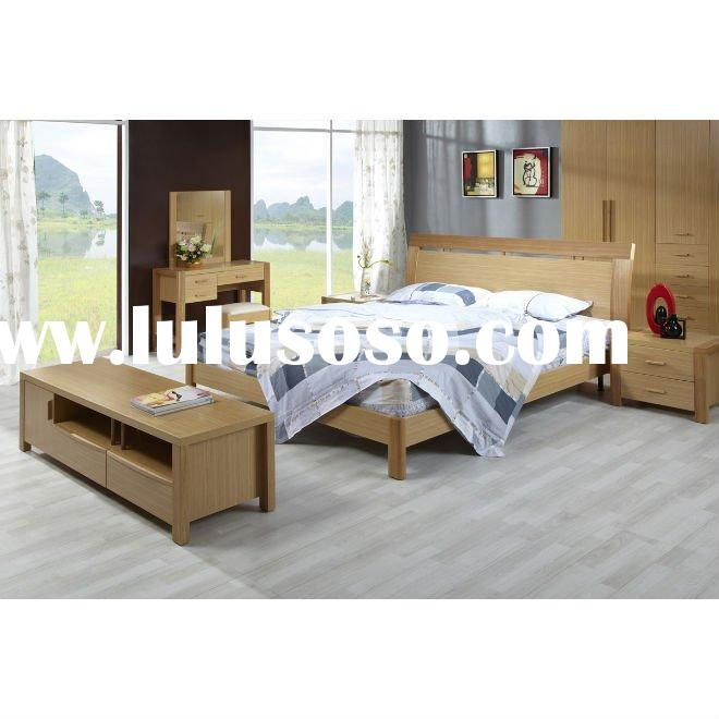 #BS004 modern bedroom furniture set in white oak finish