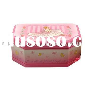 ballerina wooden musical Jewelry box with figurines