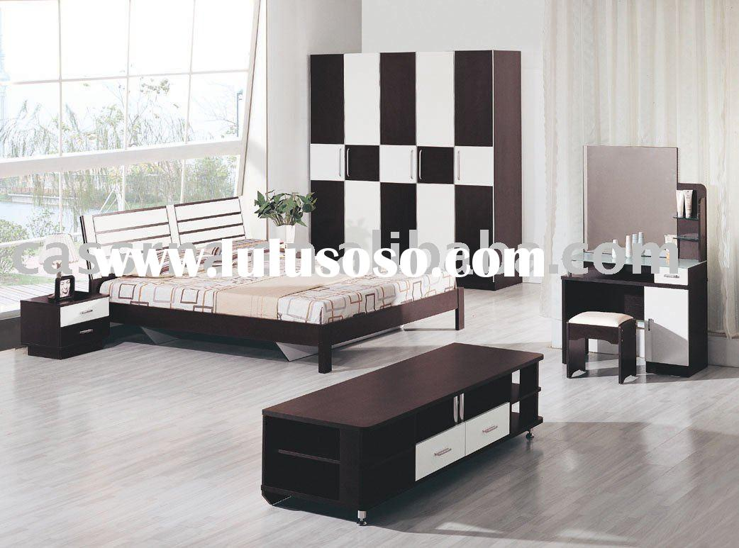 black&white bedroom sets