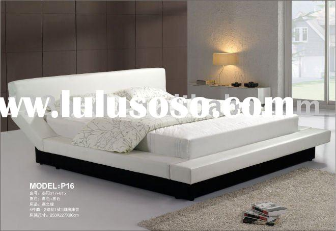 leather queen bed P16