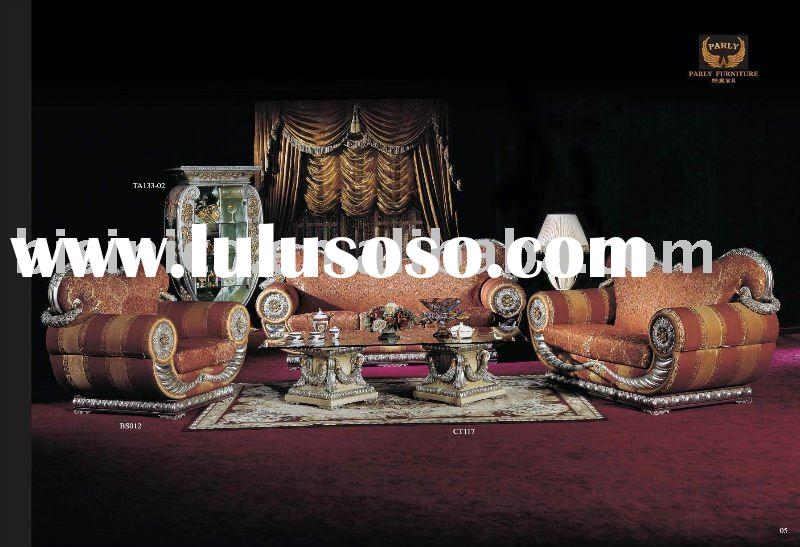luxury european classical sofa set, wood carving sofa set, livingroom furniture