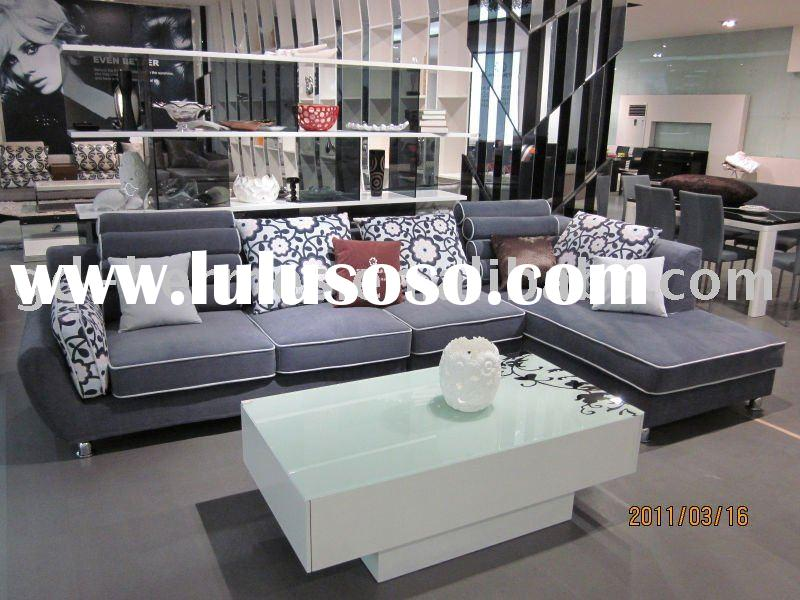 modern design fabric sofa set/solid wooden home furniture