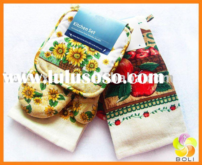 printed cotton tea towel set
