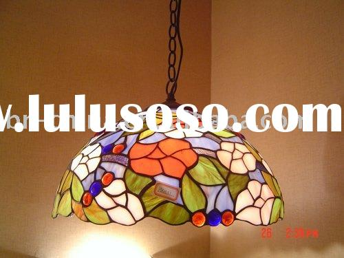 tiffany pendant lamp (stained glass)