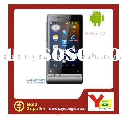 2011 Dual sim cards GPS WIFI Android 2.2 mobile phone A1+