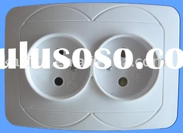 European type socket outlet 2pin double (wall socket, electrical socket, industrial socket)