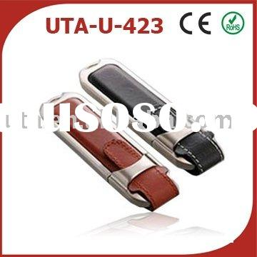 OEM 16GB Leather usb flash memory drive,usb flash stick