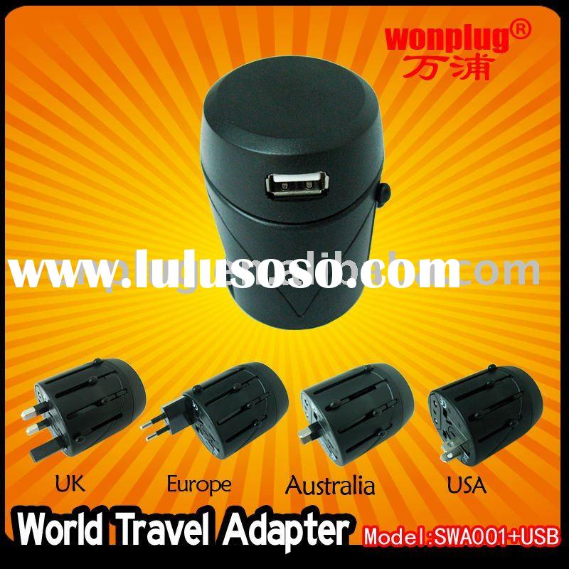 World Travel Adapter with USB Charger