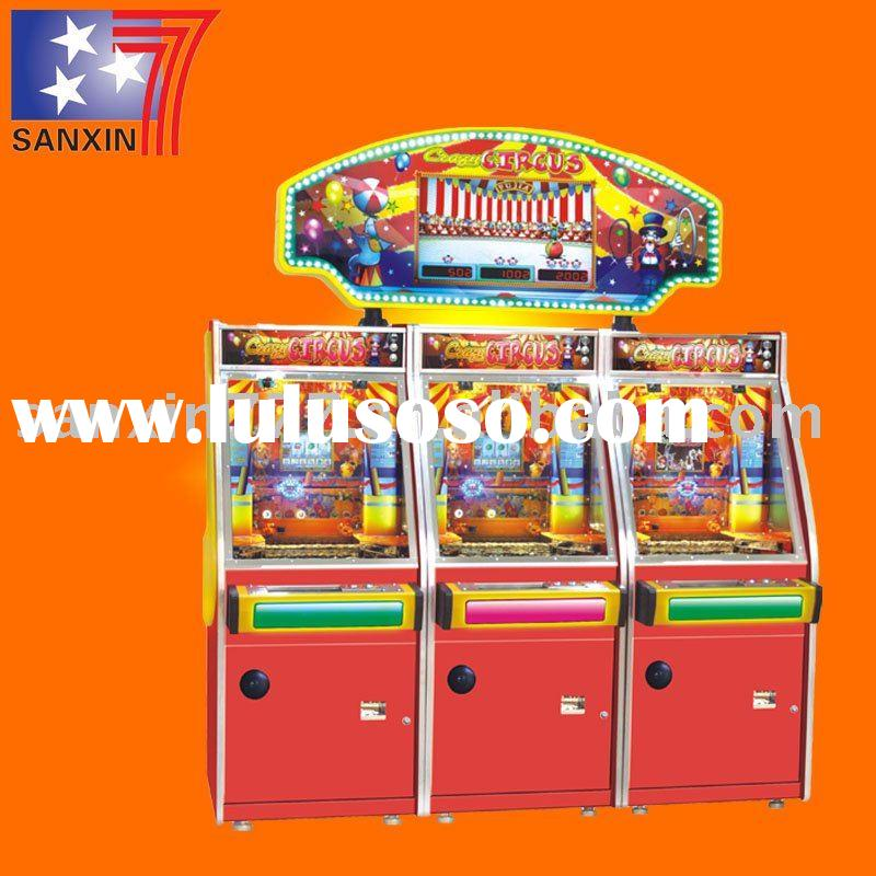 attractive coin pusher arcade video games machine