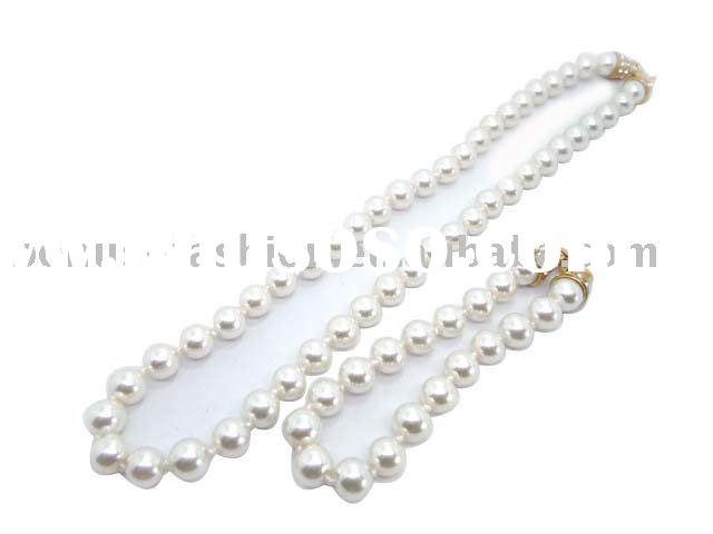 imitation pearl jewerly set