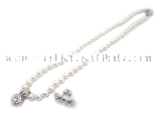 pearl jewerly set