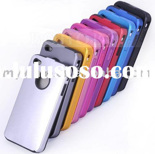 Aluminum Silicon Case for Apple iPhone 4 4G