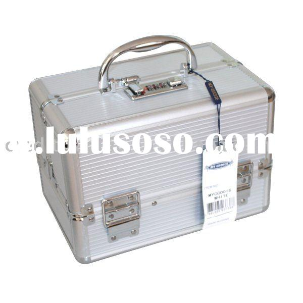 Hard white portable Aluminum tool Case with lock