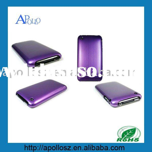 Purple Metal Aluminum Back Cover Case for iPhone 3G 3GS Purple