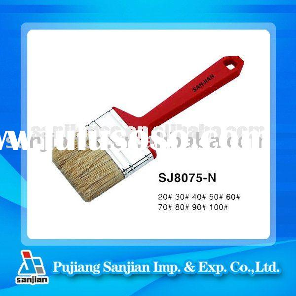 plastic handle with White bristle filament  paint brush