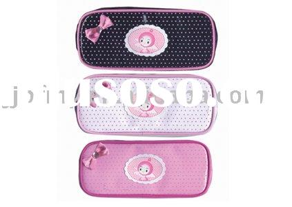 Cute leather pencil case for girls