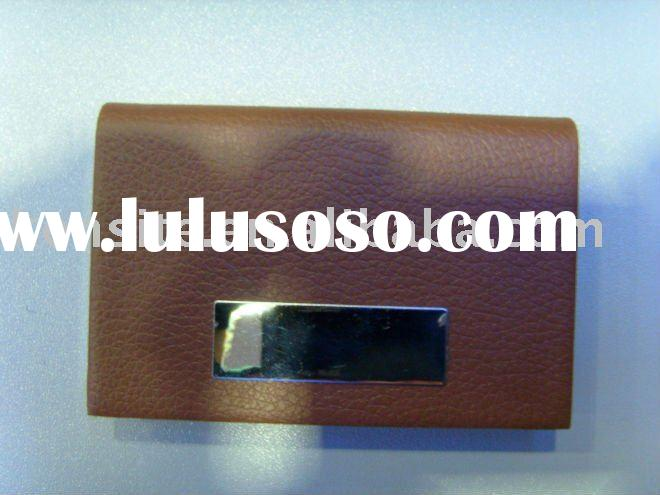 PU leather business card holder