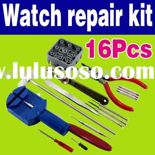 Professional 16PCS Clock and Watch Repair Tools