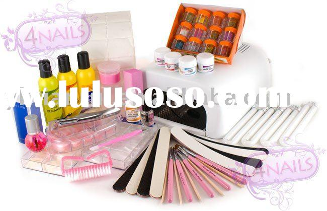 36W Nail UV Lamp+Gel Kits +Nail Art( New)
