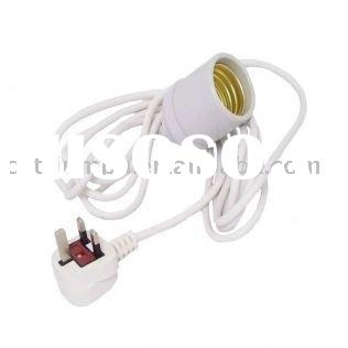 Ceramic E39/E40 lamp holders plus cable,hook and plug