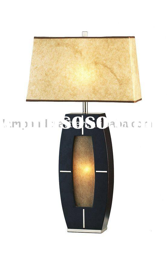 Modern Hotel Wood Table Lamp For Hotel Project