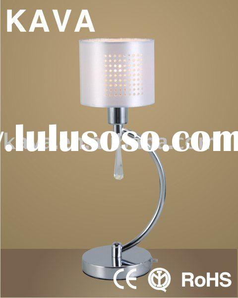 White Shade Modern Table Lamp {M7027/1T}