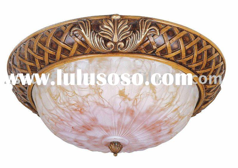 antique glass ceiling lamp