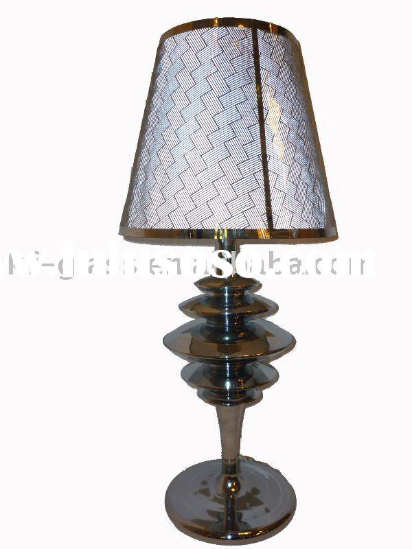 fabric shade  table lamp with metal base