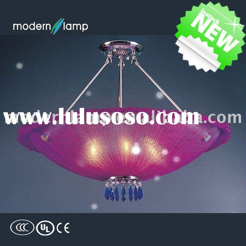 modern crystal ceiling light with shade