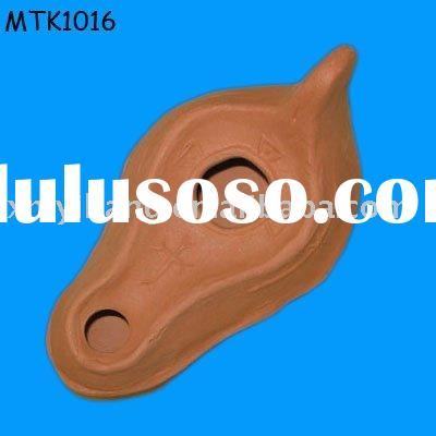 terracotta antique oil lamp